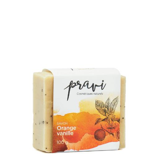 savon en barre hydratant orange-vanille
